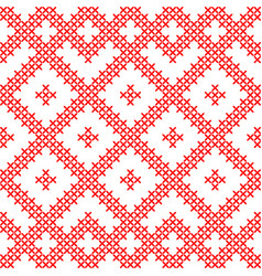 seamless pattern based on russian ornaments vector image