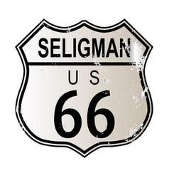 Seligman route 66 vector