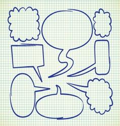 set of speak bubble vector image