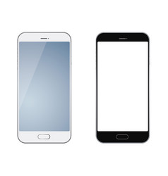 set of two smartphones vector image