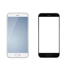 Set of two smartphones vector