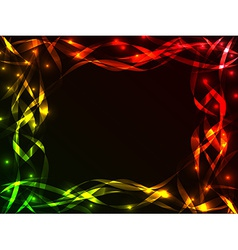 Shiny plasma ribbon frame vector