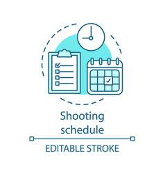 Shooting schedule concept icon vector