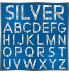 Silver Font vector image