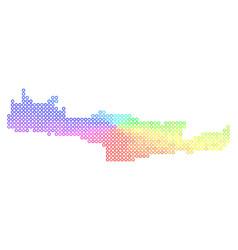 Spectral crete island map vector