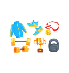sport accessories isolated on white background vector image