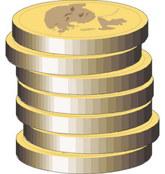 stack gold coins vector image