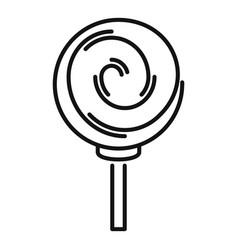 Sugar lollipop icon outline style vector