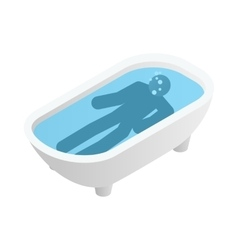 Suicide in a bathroom icon isometric 3d style vector