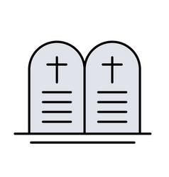 Ten commands christian glyph icon isolated vector