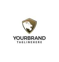 tiger shield logo design concept template vector image