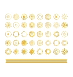 Traditional indian mandala art set vector image