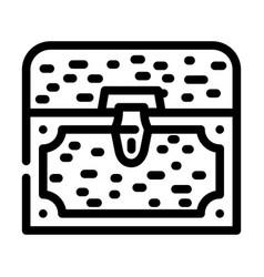 Treasure chest line icon vector