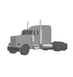 Truck without a trailer 3d logo transport vector