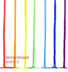watercolor vertical rainbow stripes vector image