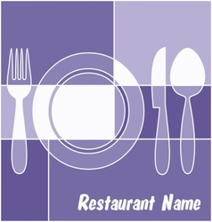 White and blue restaurant menu vector