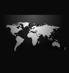 white world map blank with 3d shadow vector image