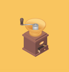 with old coffee grinder vector image