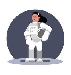 woman cosmonaut standing vector image