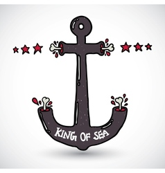 Anchor doodle vector image vector image