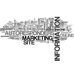 autoresponders an online university text word vector image vector image