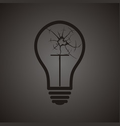 broken bulb vector image