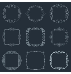 Calligraphic frames set and page decoration vector image vector image
