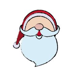 Cute face santa claus christmas character vector