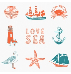 Seaside Background vector image vector image