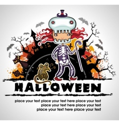 spooky halloween composition 3 vector image