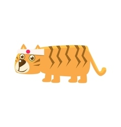 Tiger wearing japanese headband vector