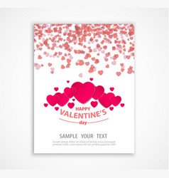 valentine s day abstract background with paper vector image vector image