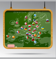 blackboard of european languages vector image vector image