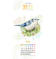 calendar for 2015 july vector image vector image
