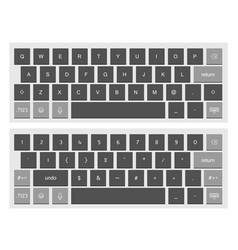 compact black virtual keyboard clipart vector image vector image