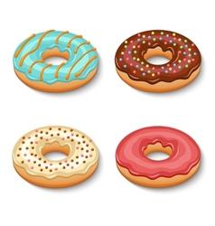 Donut dessert set vector image