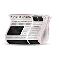 newspapers and news icon vector image