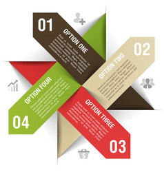 Options infographics template vector image vector image