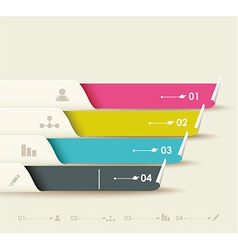 options progress banners with tags vector image vector image