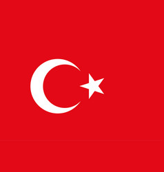 turkish flag background republic of turkey vector image vector image