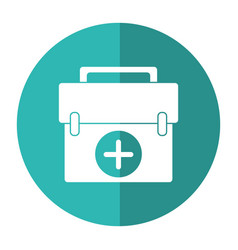 first aid kit emergency equipment shadow vector image