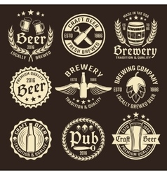 Light Beer Emblem Set vector image