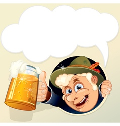 octoberfest cartoon man vector image vector image