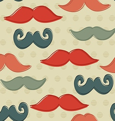 Seamless Pattern with Hipster Mustaches Background vector image vector image
