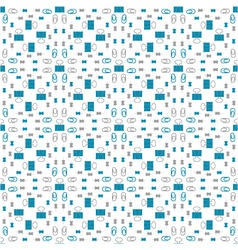 seamless pattern with stationery clip thumbtacks vector image