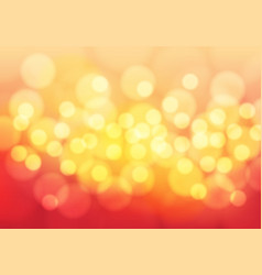 abstract yellow bokeh light on red background vector image vector image