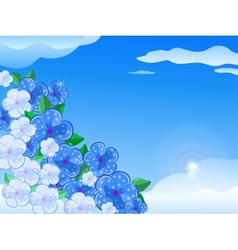 Blue White Flower In the Sky vector image vector image