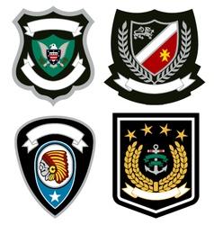 emblem badge design vector image vector image