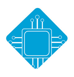 Label square digital connections with circuits vector