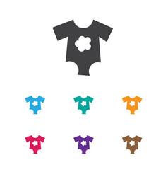 of kid symbol on baby cloth vector image vector image
